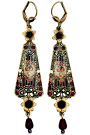 Michal Negrin Antique Cherubs Triangle Earrings
