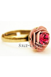 Michal Negrin Pink Fuchsia Rose Crystal Ring