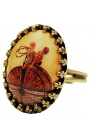 Michal Negrin Wheel Small Cabochon Cameo Ring
