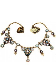 Michal Negrin Icy Blue Flowers Necklace