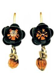 Michal Negrin Brown Rose Beads Earrings