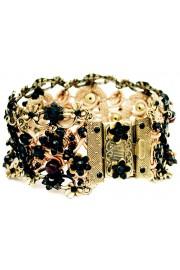 Michal Negrin Black Crochet Bracelet