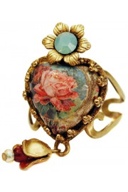 Michal Negrin Victorian Rose Heart Ring