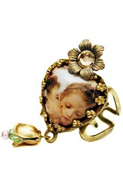 Michal Negrin Cherubs Kiss Heart Ring