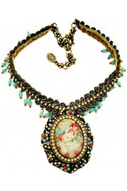 Michal Negrin Victorian Roses Cameo Necklace