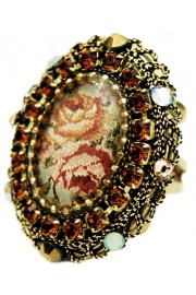Michal Negrin Bronze Roses Locket Ring