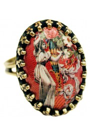 Michal Negrin Woman Small Cabochon Cameo Ring