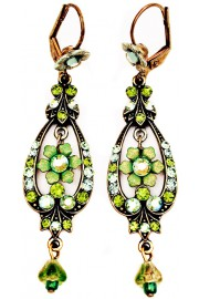 Michal Negrin Green Spade Earrings