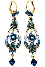 Michal Negrin Blue Swirl Spade Earrings