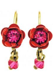 Michal Negrin Fuchsia Rose Beads Earrings