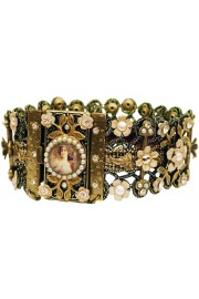 Michal Negrin Pearl Peach Woman Cameo Bracelet