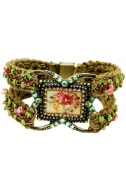 Michal Negrin Roses Cameo Woven Bracelet