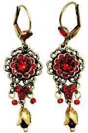 Michal Negrin Red Adenium Earrings