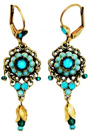 Michal Negrin Turquoise Adenium Earrings