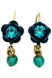 Michal Negrin Turquoise Rose Beads Earrings