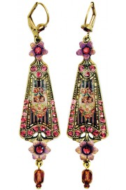 Michal Negrin Purple Cherubs Triangle Earrings