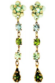 Michal Negrin Green Post Earrings