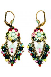 Michal Negrin Multicolor Fan Earrings