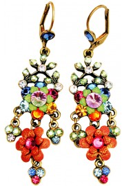 Michal Negrin Multicolor Chandelier Earrings