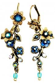 Michal Negrin Blue Cherry Blossom Earrings