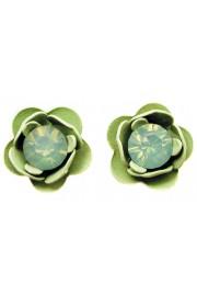 Michal Negrin Sea Green Rose Stud Earrings