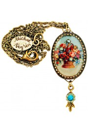 Michal Negrin Antique Roses Oval Cameo Necklace
