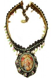Michal Negrin Baroque Love Cameo Necklace