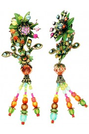 Michal Negrin Multicolor Bloomsbury Clip Earrings