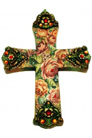 Michal Negrin Antique Roses Wall Decor Large Cross