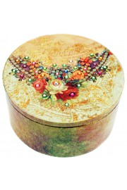 Michal Negrin Antique Roses Round Jewelry Box