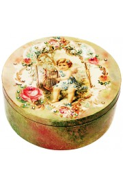 Michal Negrin Angel of Music Large Round Jewelry Box