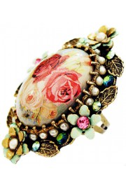 Michal Negrin Roses Ornate Cabochon Cameo Ring