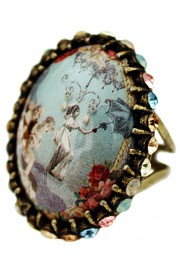 Michal Negrin Turn of The Century Cabochon Ring