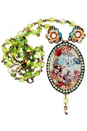 Michal Negrin 1920's Cameo Beaded Necklace