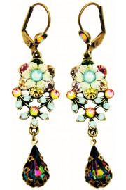 Michal Negrin Crystals Teardrop Earrings