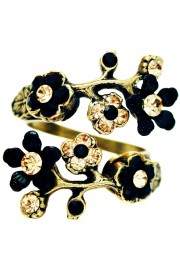 Michal Negrin Black Gold Cherry Blossom Wrap Ring