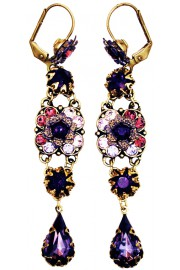 Michal Negrin Purple Lilac Milano Earrings