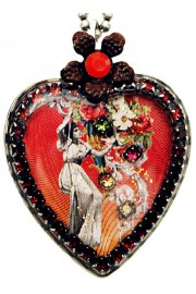 Michal Negrin Victorian Style Heart Necklace