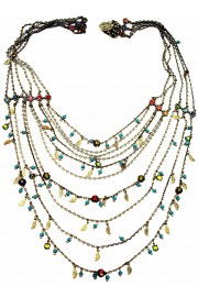 Michal Negrin Multicolor Strands Necklace