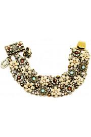 Michal Negrin Crystal Flowers Beads Net Bracelet