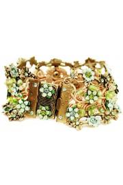Michal Negrin Green Crochet Bracelet