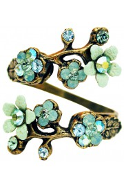 Michal Negrin Sea Green Cherry Blossom Wrap Ring
