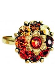 Michal Negrin Sunset Orange Flower Ring