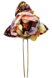 Michal Negrin Velvet Rose Crystals Hair Double Stick