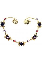 Michal Negrin Purple Flowers Necklace