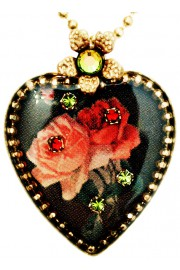 Michal Negrin Gothic Roses Heart Necklace