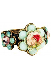 Michal Negrin Mint Green Rose Ring