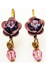 Michal Negrin Purple Rose Beads Earrings
