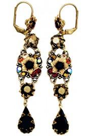 Michal Negrin Black Bronze Garnet Milano Earrings