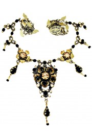Michal Negrin Black Gold Elinor Necklace